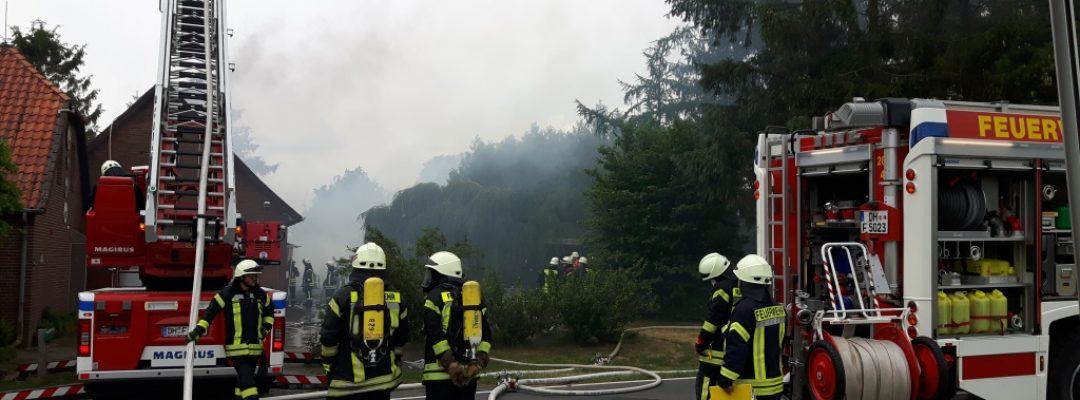 Unbewohntes Gebäude gerät in Brand