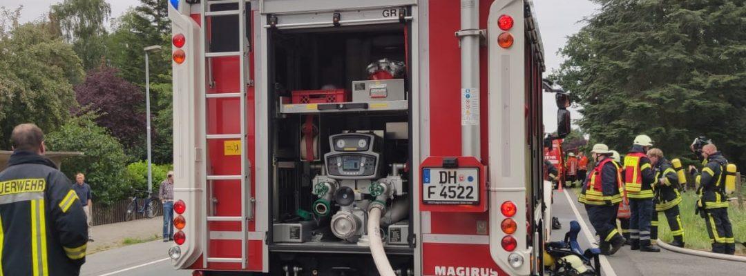 Werkstattbrand in Bockhop
