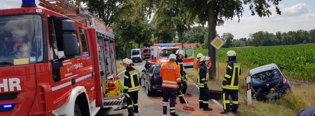 Verkehrsunfall Päpser Straße in Siedenburg