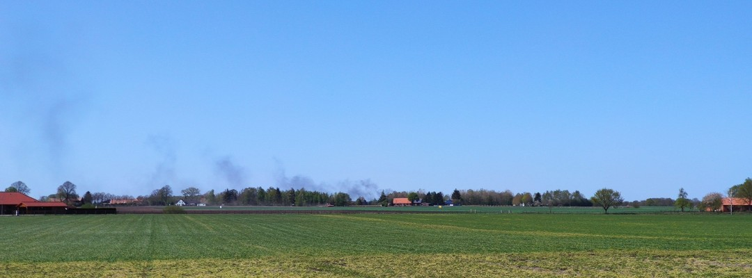 Silofolie brennt in Mellinghausen