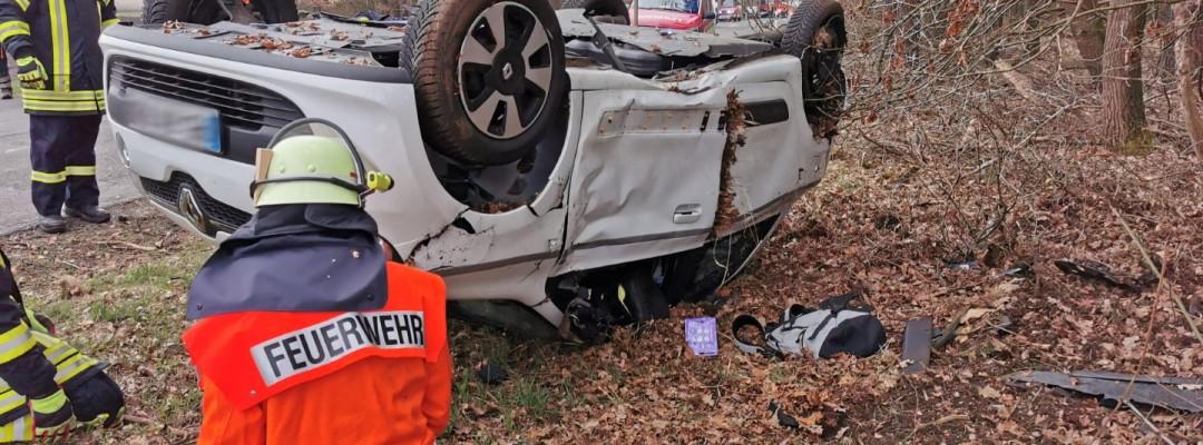 Kreuzungsunfall auf der K45 in Mainsche