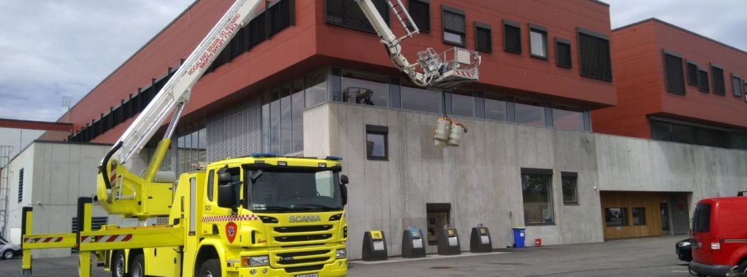 Ein Besuch bei der Feuerwehr in Sandnes, Norwegen